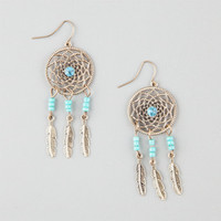 Full Tilt Dream Catcher Earrings Gold One Size For Women 25361162101