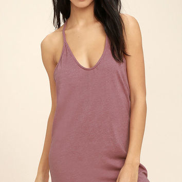 Thrilled to Bits Mauve Dress