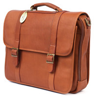 Leather Briefcase, Saddle, Laptop & Messenger Bags