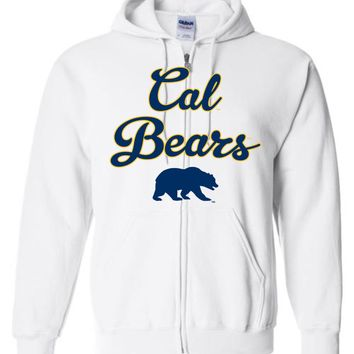 Official NCAA University of California UC Berkeley Golden Bears CAL Oski! Zip Hoodie