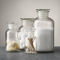 Clear Glass Pharmacy Bottles
