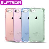 ELFTEAR Anti-knock Case for iphone 5 5s 6 6s 6 plus 7 for iphone plus  7 4.7'' 5.5'' Shockproof Clear Thin Soft Anti-drop Case