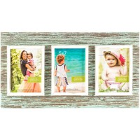 "5"" x 7"" Rustic Blue 3-Opening Collage Frame 