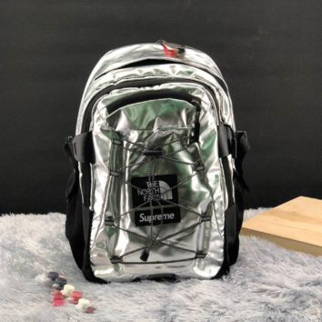 Supreme The North Face Metallic Borealis Backpack Silver