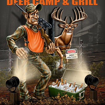 Deer Camp Decor Personalized Print / Sign / Poster