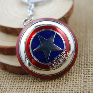 Movie Chain Captain America Civil war Shield Key ring Key chain