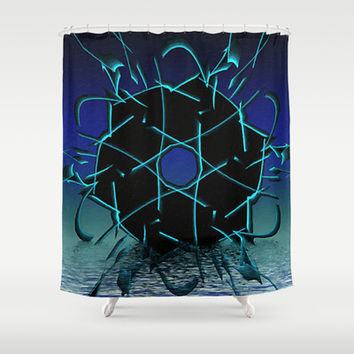 Black Geometry Shower Curtain by Awesome Palette | Society6