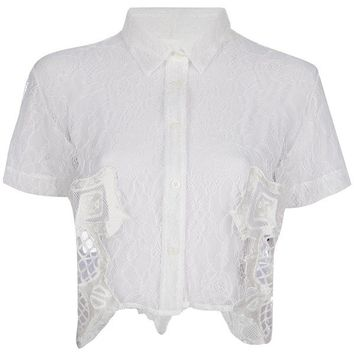 KTZ embroidered lace blouse