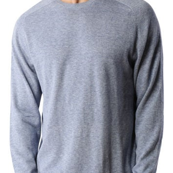 LE3NO PREMIUM Mens Vintage Long Sleeve Crewneck Soft Knit Pullover Sweater