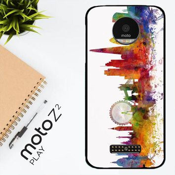 London Skyline Watercolor V0202 Motorola Moto Z2 Play Case