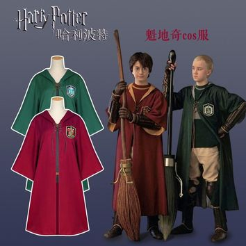 Harry Robe Quidditch Uniforms Capes Gryffindor Slytherin Cloak Cosplay Costume