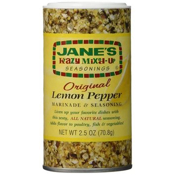 Jane's Krazy Marinade - Lemon Pepper - 2.5 Oz - Case Of 12