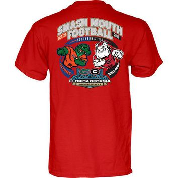LMFON NCAA Georgia Bulldogs vs Florida Gators Smash Mouth Football Game Day Red T Shirt