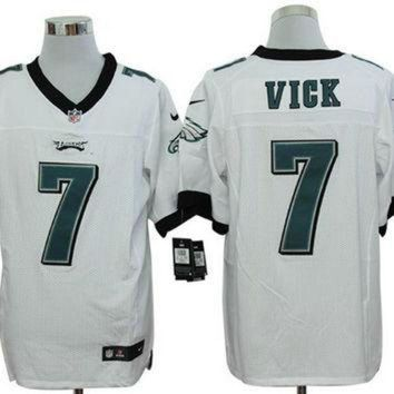 PEAPNO Nike Eagles #7 Michael Vick White Mens NFL Elite Jersey