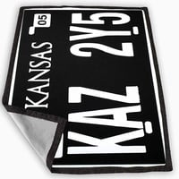 Supernatural Kansas Plate Blanket for Kids Blanket, Fleece Blanket Cute and Awesome Blanket for your bedding, Blanket fleece **