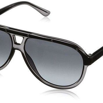 PEAPGQ6 Gucci Aviator Sunglasses 3720/S Grey Crystal Gradient