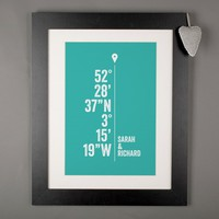 Personalised Print - Location Coordinates | GettingPersonal.co.uk