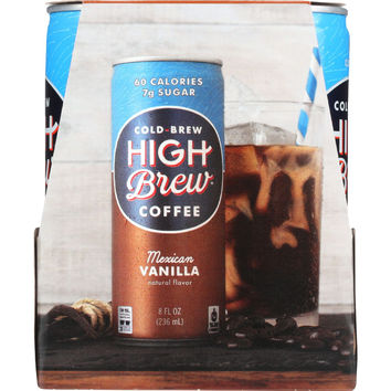 Coffee - Ready to Drink - Mexican Vanilla - 4/8 oz - case of 6