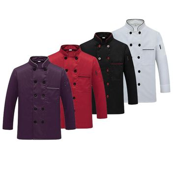 Western Hotel Chef Jacket Food Service Long Sleeved Restauant Chef Uniform Double Breasted Chef Clothing  Kitchen Cook Wear 89