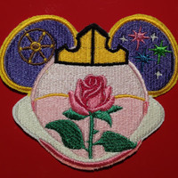 Disney Princess Aurora Sleeping Beauty  Mouse Ears Sew On Patch. Fish Extender Decoration