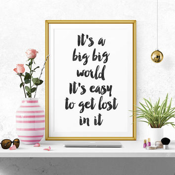 Wall art decor Justin Bieber quote, minimalistic typography giclée print