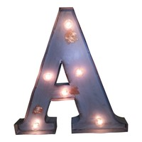 """20"""" A - Z Colored Vintage Marquee Light Up Letters"""