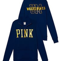 University of Michigan Bling Half-zip Pullover - PINK - Victoria's Secret