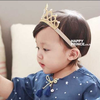 2016 New baby newborn infant headbands children's crown baby elastic headband girls hair accessories