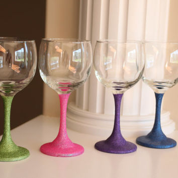 Shop wedding wine glass decorations on wanelo for Wine glass decorations for weddings