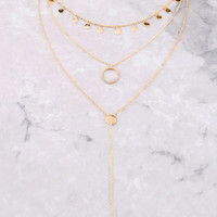 Disk Layered Necklace