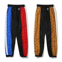 MCM & Puam New fashion embroidery more letter pattern couple pants
