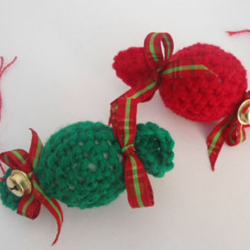 Christmas Ornament - Tree Ornament - Christmas Decor - Table Decor - Kids Room - Gift Wrapping Idea - Christmas Favor- Crochet Ornament