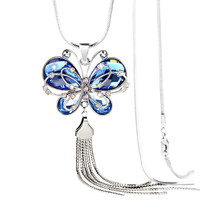 Butterfly Crystal Necklace