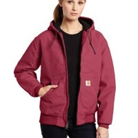 Carhartt Women's Quilted Flannel Lined Sandstone Active Jacket WJ130,Merlot  (Closeout),X-Small
