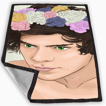 One Direction Harry Styles Blanket for Kids Blanket, Fleece Blanket Cute and Awesome Blanket for your bedding, Blanket fleece *