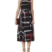 REISSLava Plaid Midi Dress