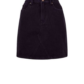 Black Denim Mini Skirt | New Look