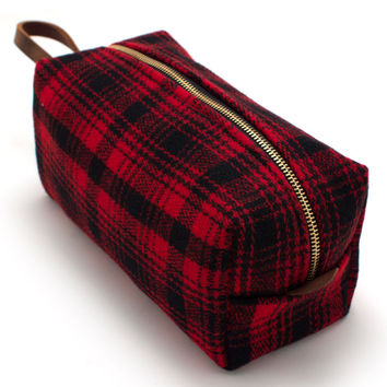 Buffalo Plaid Travel Kit