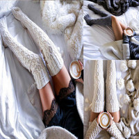 New  Arrival Fashion Sexy Style Winter Warm Knit Socks [9535620868]