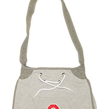 NCAA Officially Licensed Hoodie Embroidered Purse Tote Bag (Ohio State Buckeyes)