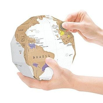 Modern Map Art World Map Scratch Off, Extra Large Deluxe World Scratch Off Globe With Accessories - Great Gift For Travelers