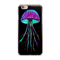 "Ivan Joh ""Night Of Jellyfish"" Black Purple iPhone Case"