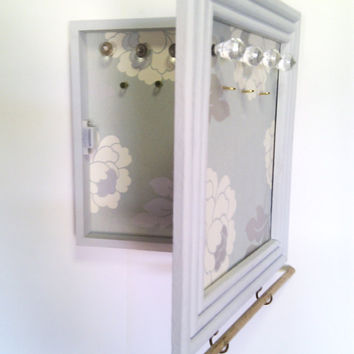 Wall Mounted Jewelry Cabinet in Duck Egg Blue to by Ayliss on Etsy