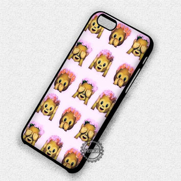 Emoji Monkey Floral - iPhone 7 6 Plus 5c 5s SE Cases & Covers