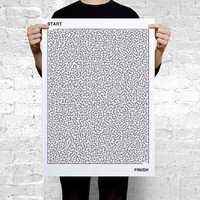 Labyrinth  Large Art Print Poster A2
