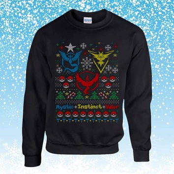 Pokemon Go team Ugly Christmas Sweater sweatshirt unisex adults
