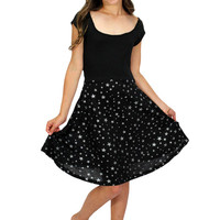 Lori & Jane Star Dress/Black | Mod Angel