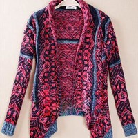 Folk Style Retro Geometric Figure Cardigan