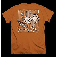 Itsa girl Thing Texas Longhorns Gameday Bow Orange Bright Girlie T-Shirt