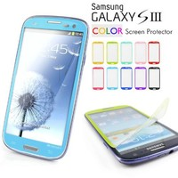 Galaxy S3 Screen Protector, Caseology [HD Clarity] Samsung Galaxy S3 Screen Protector [2-Pack] [Sky Blue] [3-Month Warranty] Color Film [Crystal Clear] Front Screen Protection Galaxy S3 Screen Protector (for Samsung Galaxy S3 Verizon, AT&T Sprint, T-mobile
